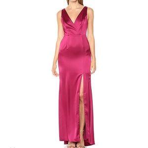 Adrianna Papell dark red sleeveless dress